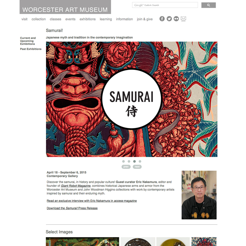 "<a href=""http://www.worcesterart.org/exhibitions/samurai/"">worcesterart.org/exhibitions/samurai</a>"